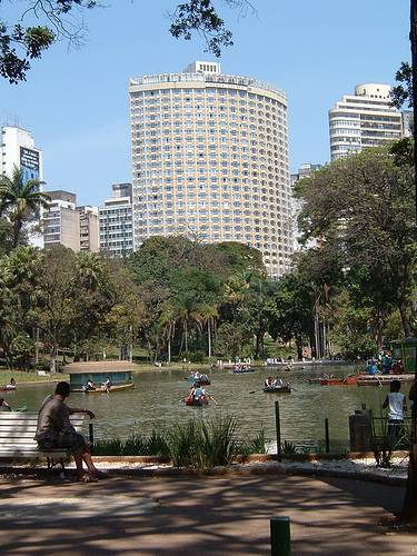 Othon Palace Hotel Seen from Municipal Park