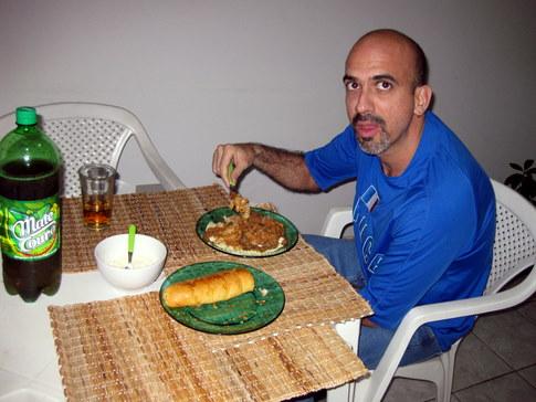 Milton Having Dinner