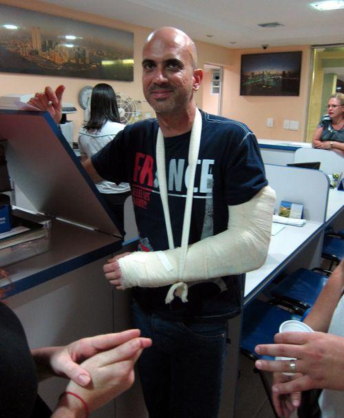 Milton with Broken Arm