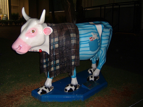 Sick Cow Statue